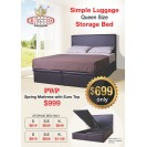 KingsBed Storage Bed With Mattress